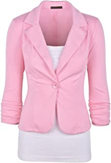 c706e3b7008 FASHION BOOMY Womens Casual Work Office Blazer Jacket Made in USA