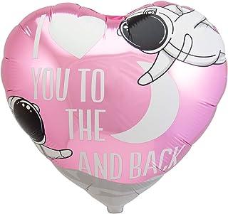 Folat 64375 Love You to The Moon and Back' folieballong, rosa