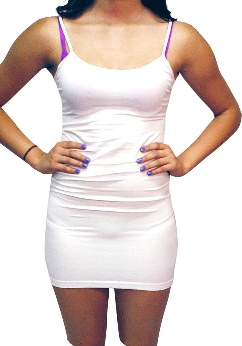 Dona Michi Extra Long Women Seamless Camisole Spaghetti Strap Stretch Cami Tank