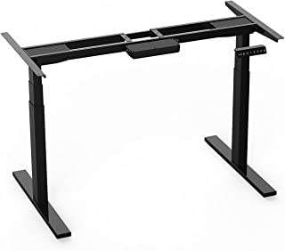 "AIMEZO 3 Tier Adjustable Legs Dual Motor Electric Sit to Stand Desk Frame 71"" W Electric Height Adjustable Desk Base"