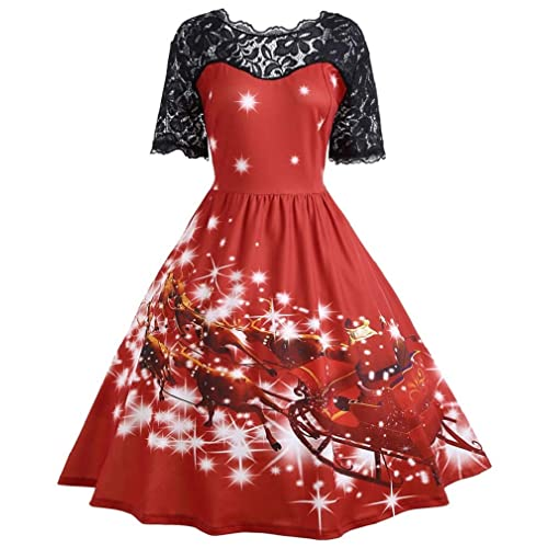 f4e9749844f8 Vanbuy Womens 50s Pin Up Halloween Dress Costume Rockabilly Cocktail Party  Dress