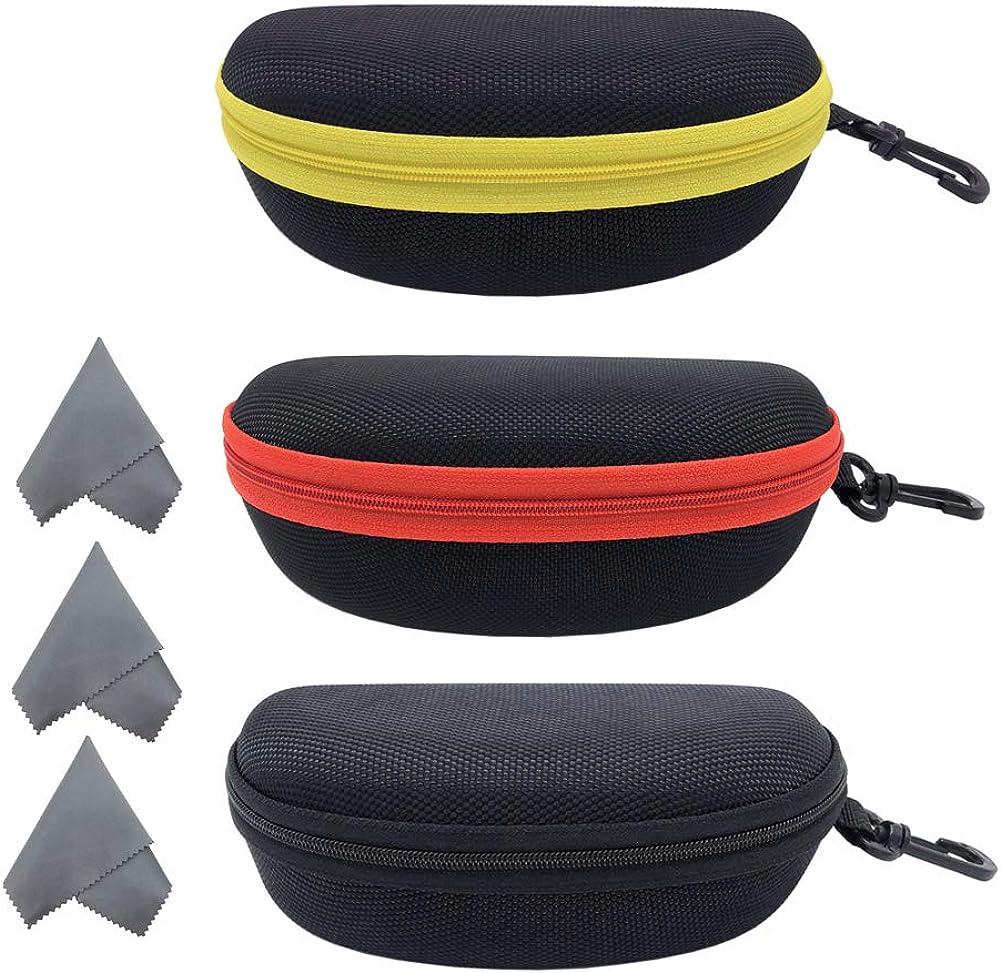 3 Reservation Pack Sunglasses Case Cheap SALE Start Portable Eyeglasses Ho Zipper Travel