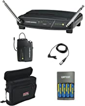 Audio-Technica ATW-901A/L System 9 VHF Wireless Unipak System with Omnidirectional Lavalier Microphone, GM-1W Mobile Pack & 4-Hour Rapid Charger Kit