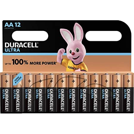 Duracell 92548634OE Piles alcalines Ultra AA Mignon LR6, paquet de 12 piles alcalines AA Mignon