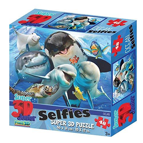 Howard Robinson HR10812 Super 3D Puzzle mit Meeres-Motiv Ocean Selfies, 48Teile