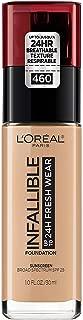 L'Oréal Paris Makeup Infallible up to 24HR Fresh Wear Liquid Longwear Foundation, Lightweight, Breathable, Matte Finish, Medium-Full Coverage, Sweat & Transfer Resistant, Golden Beige, 1 fl. oz.