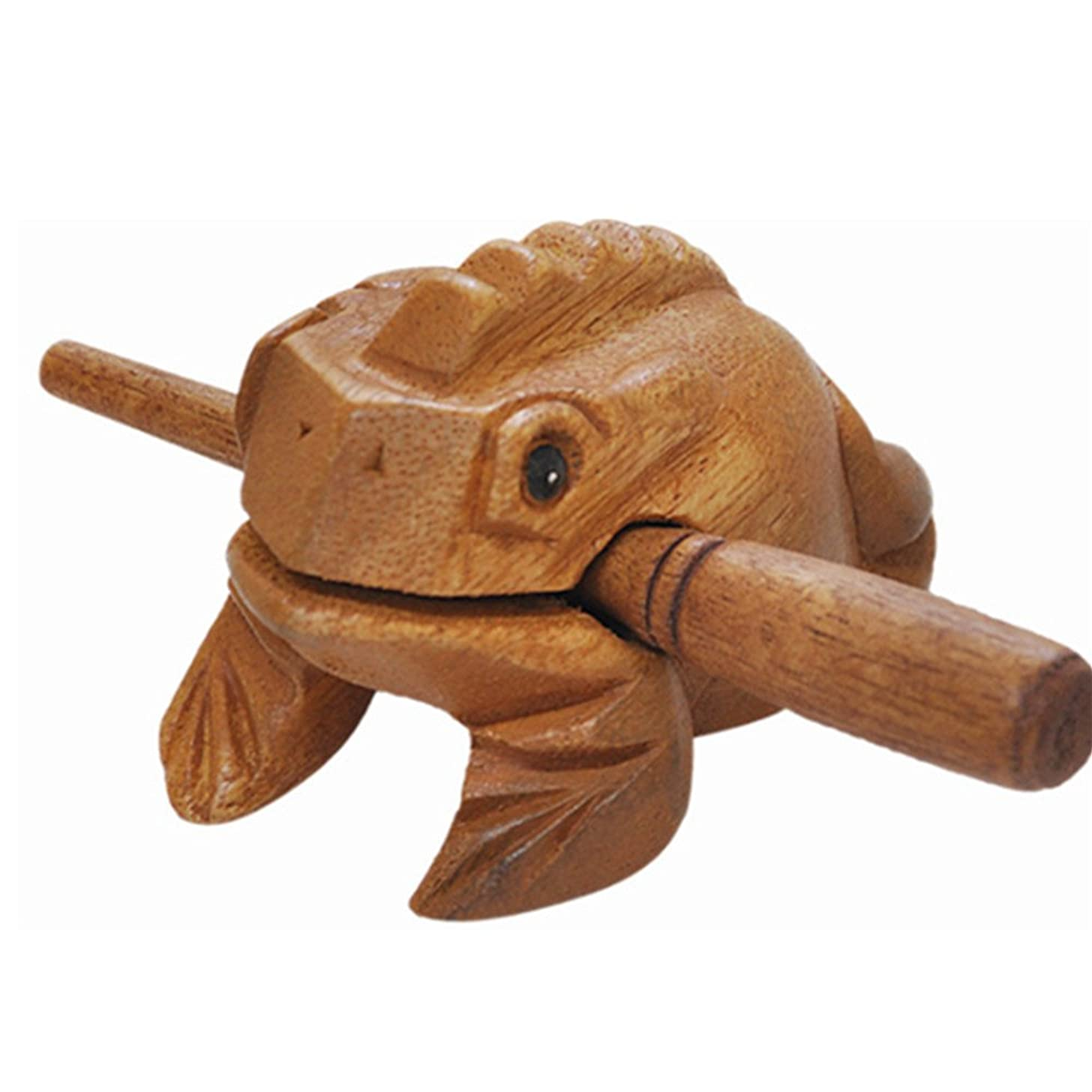 FILY Wood Frog Guiro Rasp Hand-Carved Lucky Frog Made of Wood,Wooden Frog Percussion Instrument,Wooden Frog Statue Toy Decoration