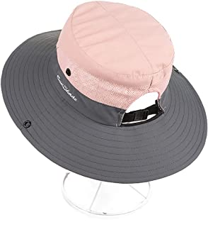 YSense Womens Outdoor Sun Hat UV Protection Foldable Mesh Wide Brim Summer Beach Fishing Hat