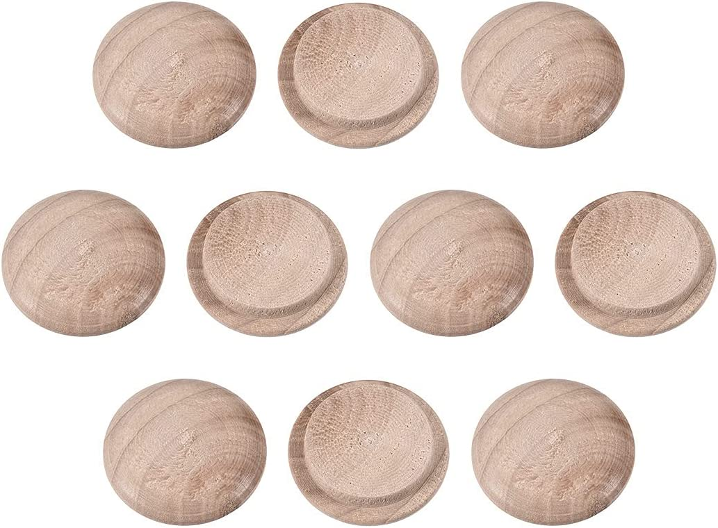 NEW before Limited time sale selling uxcell Wood Button Top Plugs 20mm Hardwood 9