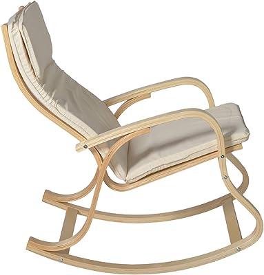 PEGANE Rocking-Chair Fauteuil a Bascule Relaxant en Coloris Naturelle