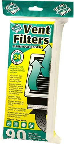 wholesale Furnace AC Register Dust Control Vent Filters - Pack of 24 | Helps Trap popular Dirt, Dust, Smoke, Poolen Size Particles | Provides wholesale Fresh, Filtered Air | For Bathrooms, Bedrooms, Kitchen, Family Rooms outlet online sale