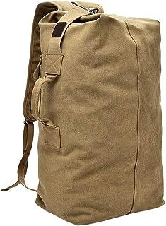 Cylinder Canvas Travel Backpack Large Capacity Duffel Shoulder Bag Outdoor Sport Hiking Rucksacks