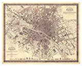 Antique Map of The Paris - Unframed 8x10 Wall Art Print - Vintage Office Décor - 1860 Joseph Meyer Paris Map - Great Gift - great gift for relatives and friends