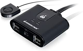 IOGEAR 2 Computer 4-Port USB 2.0 Peripheral Sharing Switch, GUS402