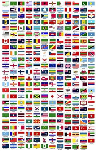mmhhxx Puzzle de la Bandera del Mundo para Adultos Puzzle de 1000 Piezas Puzzle de la Bandera del Mundo para Adultos 75x50cm -999