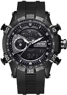 WH6902 شاشة مزدوجة بحركتين كوارتز رقمية للرجال ساعة 3ATM مضادة للماء LCD الخلفية منبه رياضي التقويم أسبوع التاريخ التلقائي...