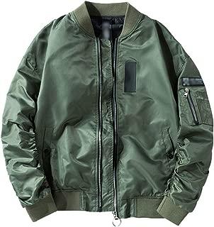 Kedera Men's Bomber Jacket Slim Fit Softshell Flight Streetwear Baseball Jacket Coat