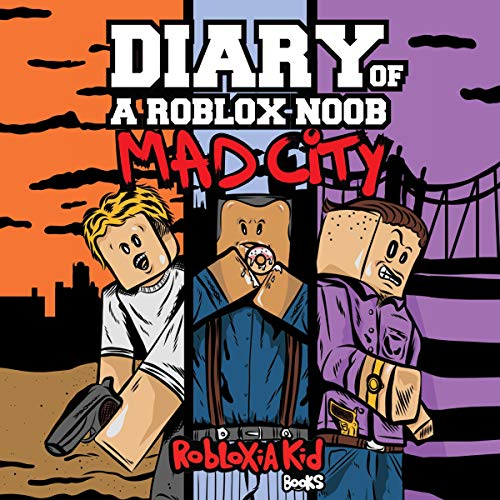 Diary of a Roblox Noob: Mad City audiobook cover art