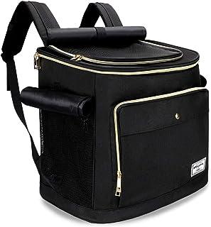 WINSUN ペットキャリーバッグリュック 犬キャリーバッグ 猫キャリーバッグ 3way仕様 通気性、安定性抜群 旅行/通院/散歩/電車移動/避難用 ブラック