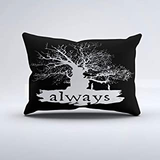 Christ-EZ Harry Potter Spell | Always Quote Silhouette Throw Pillow Pillowcase Pillow Cushion Cover Cases Single Side 20x36