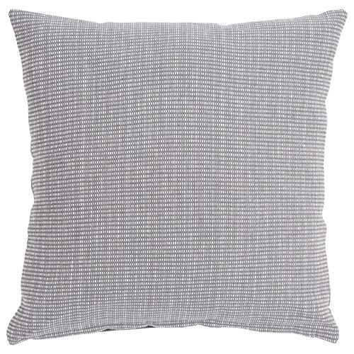 Linen and More Cojín, algodón, Gris, 45 x 45 cm
