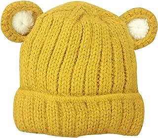 (ボラ-キキ) Bole-kk ニット帽 帽子 キッズ 子供 男の子 女の子 ニット帽 ニットキャップ あったか 子供帽子 キッズ帽子 防寒 かわいい ポンポン クマ くま耳