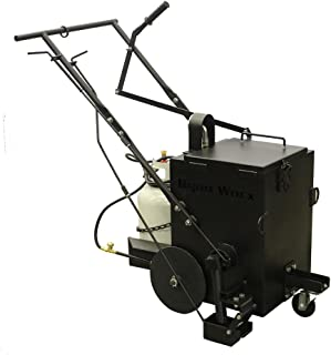 RY10 Asphalt Melt and Apply Hot Rubberized Crack Filler Machine - 10 Gallon Capacity | Included Torch Heats Crack Sealant and Burns
