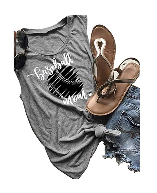 Anbech Baseball Mom Tank Tops Women Summer Sleeveless Muscle T Shirt Graphic Funny Vest