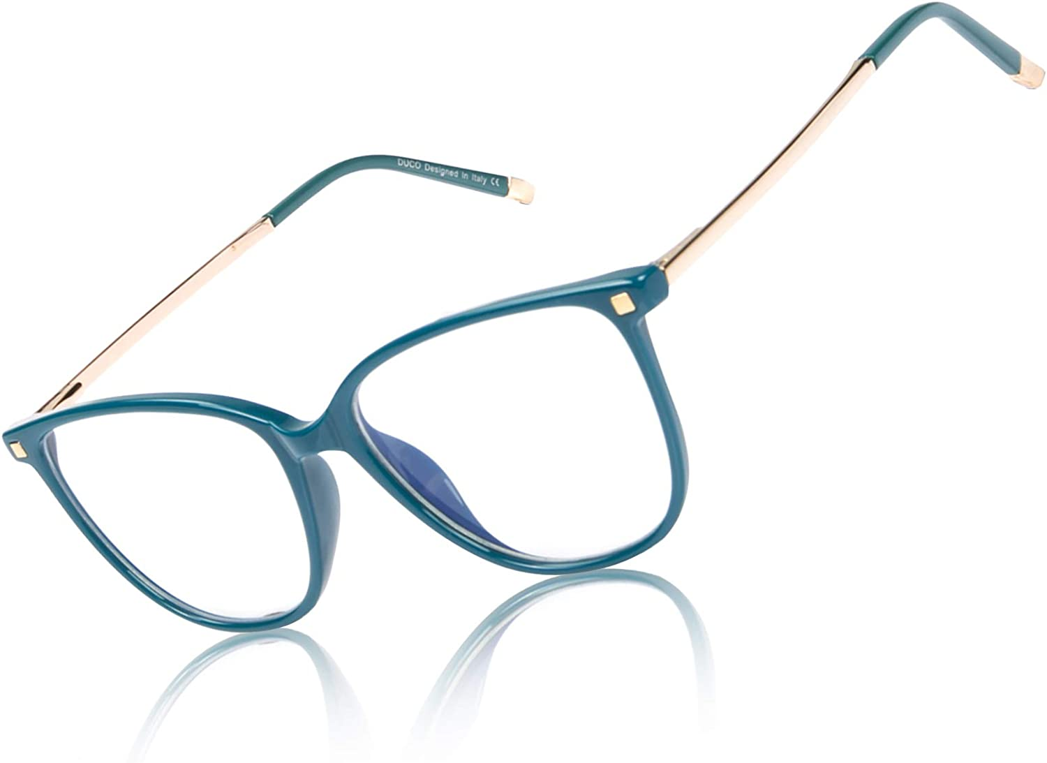 Duco Blue Light Blocking Glasses,Reduce Eye Strain and Fatigue Gaming Glasses Blue Blockers Computer Reading Glasses DC5209 (Green)