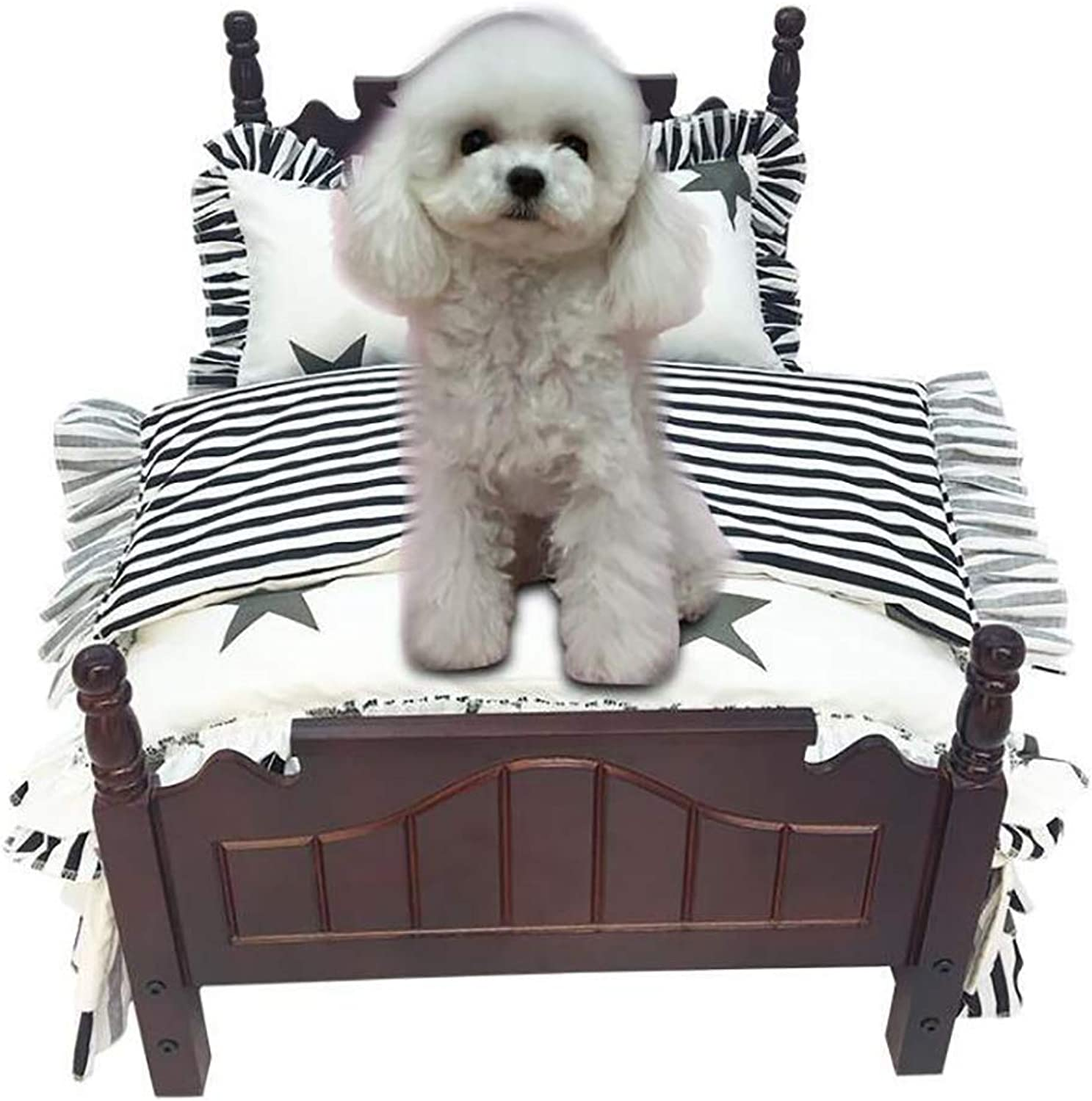 Deluxe Dog bed, Teddy Princess bed Pet nest Durable Kennel, Soft Cozy Pet beddingB L