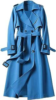 Dames trenchcoat blazer dames elegante lange jas vrouwelijke trenchcoat lange parka overgangsjas bindriem jas blazer jasse...