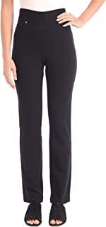 JENO NEUMAN Women's Knit Denim Straight Leg Pant