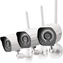 $89 Get Zmodo Wireless Security Camera System 3 Pack, Smart Home HD Indoor Outdoor WiFi IP Cameras with Night Vision, Cloud Service Available