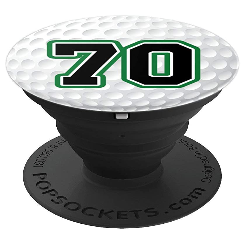 Golf Ball Number 70 Golfer 70th Birthday Gift Zx - PopSockets Grip and Stand for Phones and Tablets