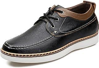 [Atbash] シークレット革靴 カジュアルシューズ メンズ 快適 革靴 ビジネスシューズ シークレットシューズ ローカット スニーカー クッション性 デッキシューズ 6cmUP