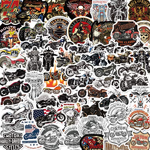 ZXXC 50Pcs Harley Motorcycle Waterproof Sticker Personality Creative Body Sticker Water Cup Notebook Luggage Decoration Sticker