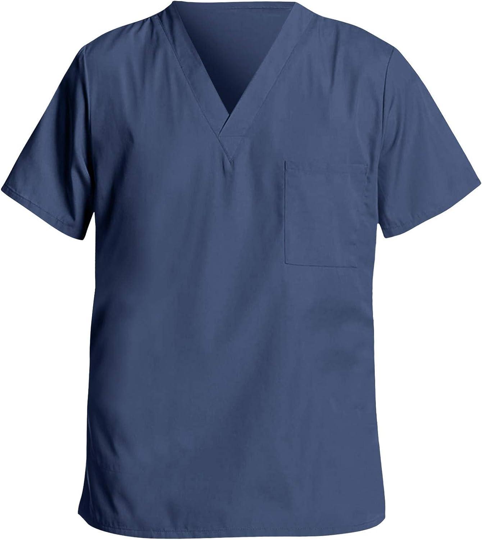 Abbigliamento Lavoro Divisa Uniforme Infermiere Casacca Scollo Scelta Ospedaliera Donna Scuro Varianti Manica Corta Top Camicetta Medicale Medica Uniformi Dentista Operatore Sanitario Uomo Donna