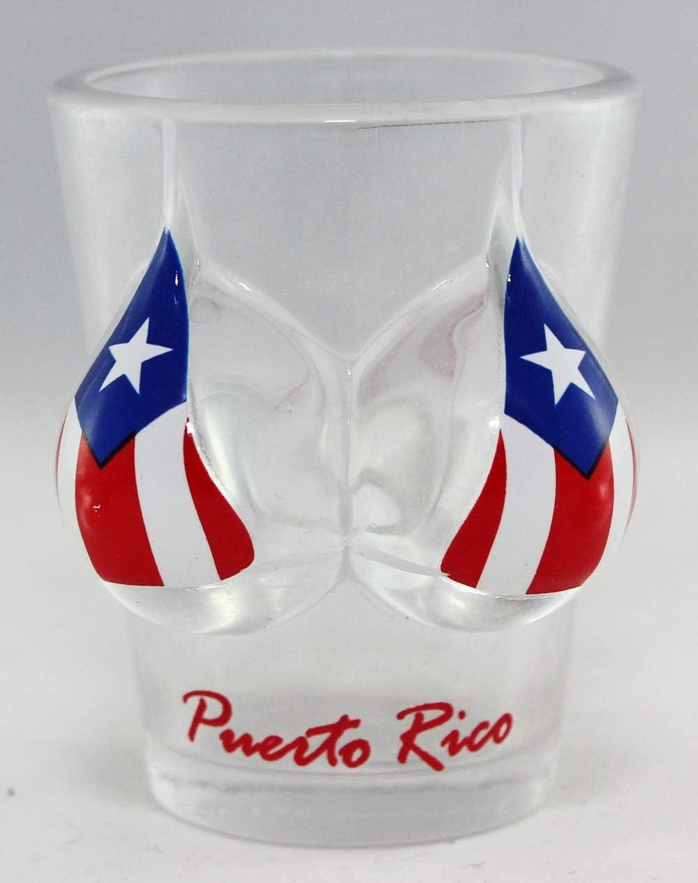 Puerto Rico Flag Bikini Shot 3D Glass Bust OFFer Award