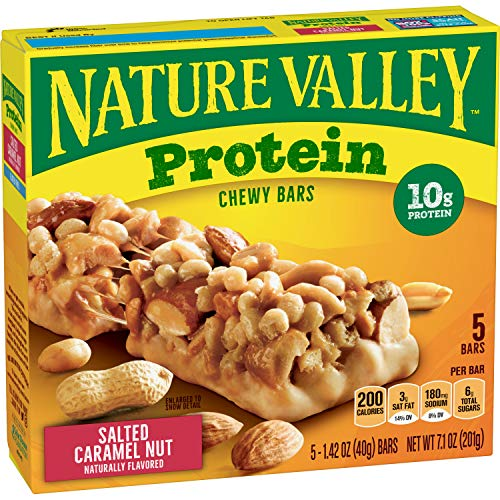 Nature Valley Chewy Granola Bars Salted Caramel Nut Protein 5 ct 71 oz