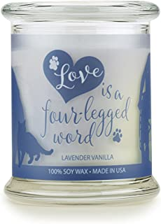 One Fur All Sentiments Candle Pet House, Natural Soy Wax, Pet Lover Gifts, Non-Toxic, Allergen-Free, Eco-Friendly Candle, Pet Odor Neutralizer, Lavender Vanilla