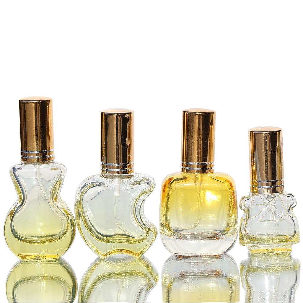 Waltz&F カラフル ガラス製香水瓶 フレグランスボトル 詰替用瓶 空き アトマイザー 分け瓶 旅行用品 化粧水用瓶
