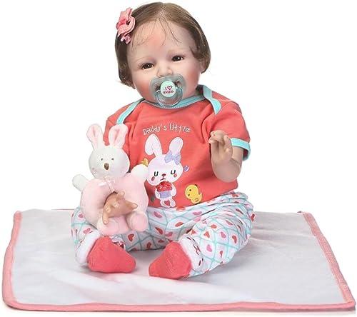 marca famosa Docooler Reborn Baby Rebirth Doll Kid Regalo Regalo Regalo Material de Tela Cuerpo 22 Pulgadas para Niños Adultos, Navidad o Regalos de cumpleaños  venta directa de fábrica
