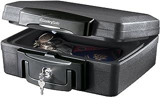 SentrySafe H0100 Fireproof Waterproof Box with Key Lock, 0.17 Cubic Feet, Black