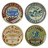 Bia Lot de 4Assiettes Classique Apéritif camembert
