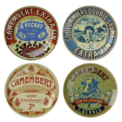 BIA Juego de 4 Platos clásicos de canapé de Camembert