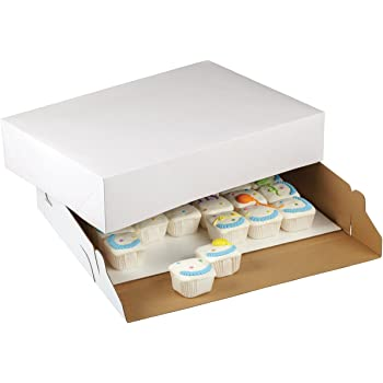 Wilton 2-Pack Corrugated Cake Box, 19 by 14 by 4-Inch