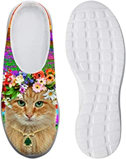 AXGM Men's Slippers Mesh Clogs Mules Beach Shoes Flower Animal Cat Print Trend Slippers Unisex Adult Casual Shoes Closed T...