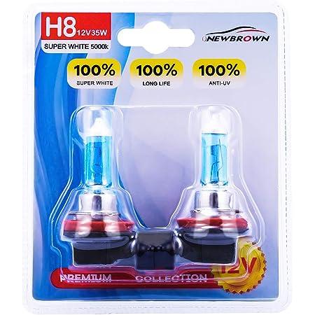 2 Pack 12V HELLA H71071072 Optilux XY Series H8 Xenon Yellow Halogen Bulbs 35W