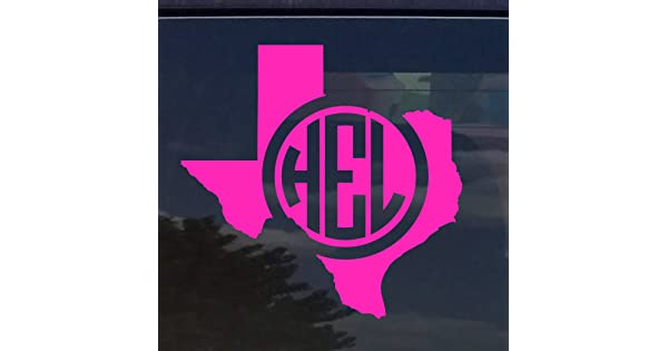 Texas Personalizado Monograma Del Circulo Iniciales Vinilo Adhesivo Para Coches Yeti Taza Para Portatil Amazon Com Mx Hogar Y Cocina
