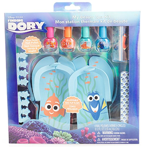 Disney Finding Dory My Beauty Spa Set, Polish, Buffer, File, Sandals and Toe Separators by Disney/Pixar